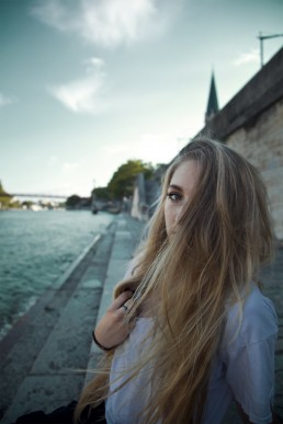 Portrait photographie Blonde Lyon